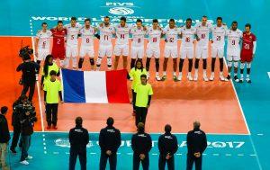Franceteamduringtheanthem21 300x189 - فرانسه قهرمان لیگ جهانی شد/ نخستین مدال کانادا با شکست آمریکا
